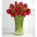 EXCLUSIVO Florero 20 Tulipanes Rojos
