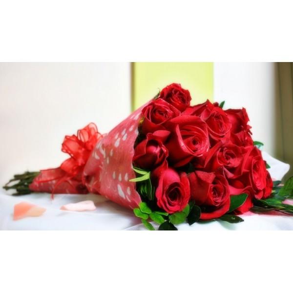 Ramo rosas rojas dia de los enamorados - Ramos de flores grandes ...